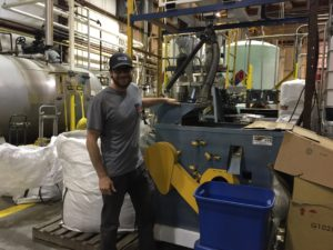 Chad Rosen Of Victory Hemp Foods At Hemp Processing Plant