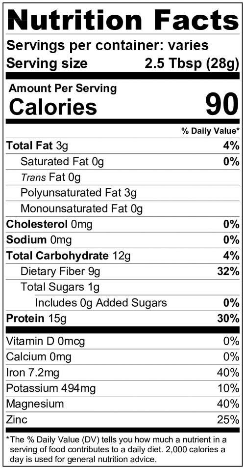 Victory Hemp Protein 50 powder nutrition information
